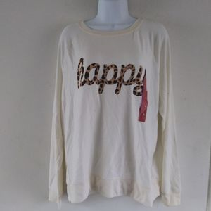 Womens Happy Graphic Sweatshirt - Grayson Threads